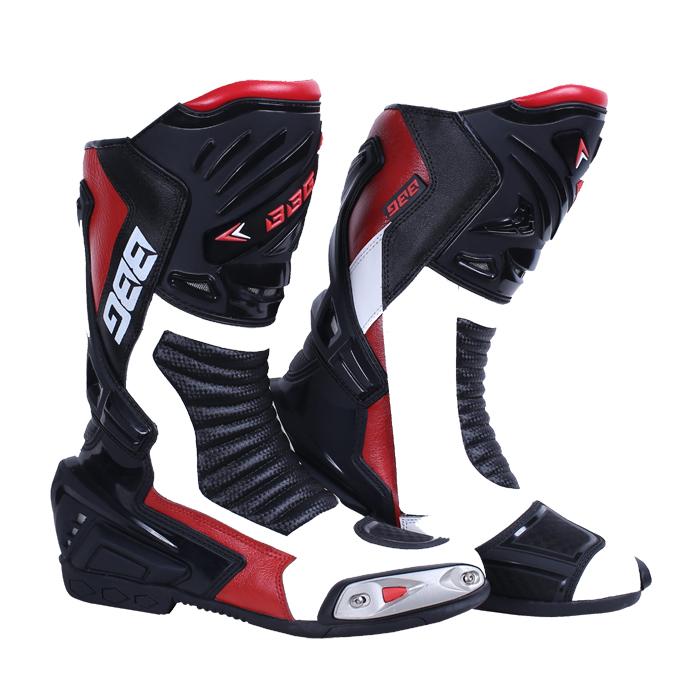 Calf Boot White & Red